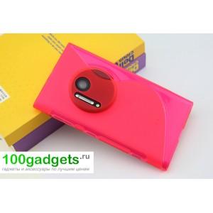 Силиконовый чехол S для Nokia Lumia 1020 Розовый