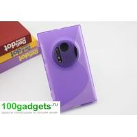 Силиконовый чехол S для Nokia Lumia 1020 Фиолетовый