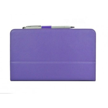 Чехол подставка с внутренними отсеками серия Full Cover для Asus Memo Pad HD 8 Фиолетовый