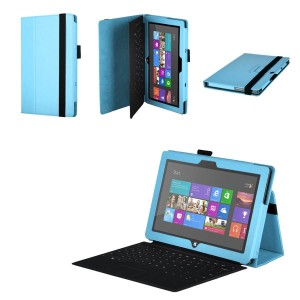 Чехол подставка серия Full Cover для Microsoft Surface Pro 2 Голубой