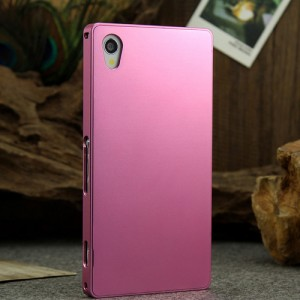Металлический чехол для Sony Xperia Z1 Розовый