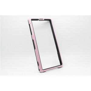 Бампер серия Dual Color для Sony Xperia Z1 Розовый