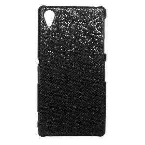 Пластиковый чехол серия Paillettes для Sony Xperia Z1 Черный