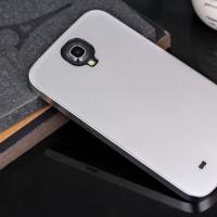 Металлический чехол серия Full Cover для Samsung Galaxy Mega 6.3 Белый