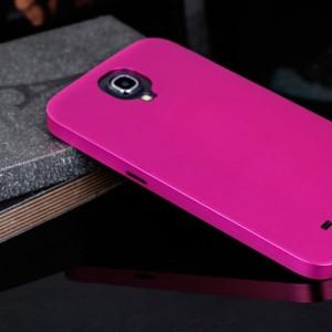 Металлический чехол серия Full Cover для Samsung Galaxy Mega 6.3 Розовый