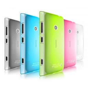 Пластиковый полупрозрачный чехол для Nokia Lumia 520/525 Зеленый