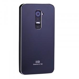 Металлический чехол серия Full Cover для LG Optimus G2 Черный