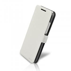 Чехол флип подставка с застежкой для HTC Desire 300 Белый