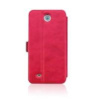Чехол флип подставка с застежкой для HTC Desire 300 Красный