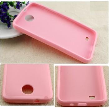 Силиконовый чехол для HTC Desire 300 Розовый