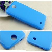 Силиконовый чехол для HTC Desire 300 Голубой