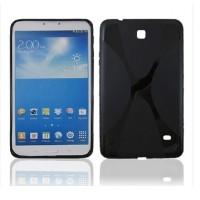Силиконовый чехол X для Samsung Galaxy Tab 4 8.0 Черный