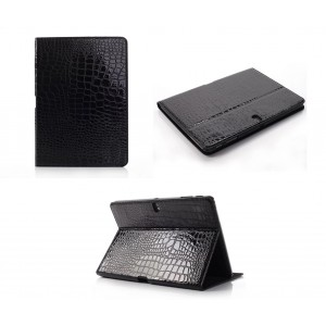 Чехол подставка серия Croco Pattern для Samsung Galaxy Tab Pro 10.1 Черный