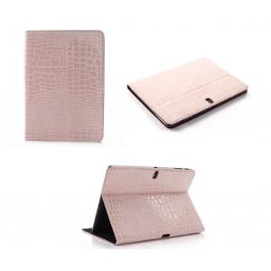 Чехол подставка серия Croco Pattern для Samsung Galaxy Tab Pro 10.1 Розовый