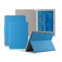 Чехол смарт флип подставка текстурный с застежкой для Samsung Galaxy Tab 4 10.1