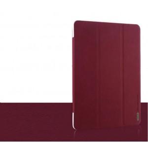 Чехол смарт флип подставка текстурный сегментарный для Samsung Galaxy Tab Pro 10.1 Красный