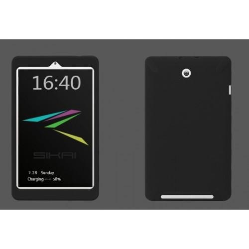 Силиконовая задняя панель софт тач премиум для ASUS MemoPad HD 8 Черный