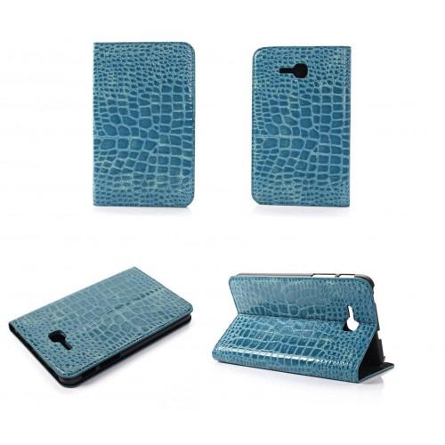 Чехол подставка серия Croco Pattern для Samsung Galaxy Tab 3 Lite 7.0 Черный
