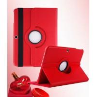 Чехол подставка роторный для Samsung Galaxy Tab 4 10.1 Красный