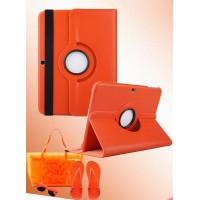 Чехол подставка роторный для Samsung Galaxy Tab 4 10.1 Оранжевый