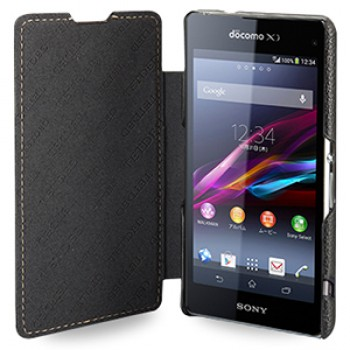 Кожаный чехол горизонтальная книжка (нат. кожа) для Sony Xperia Z1 Compact
