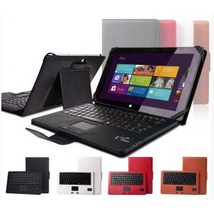 Кожаный чехол подставка (нат. кожа) с Bluetooth клавиатурой (English version) для Microsoft Surface Pro 2