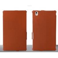 Кожаный текстурный чехол подставка для Samsung Galaxy Tab Pro 8.4 Коричневый