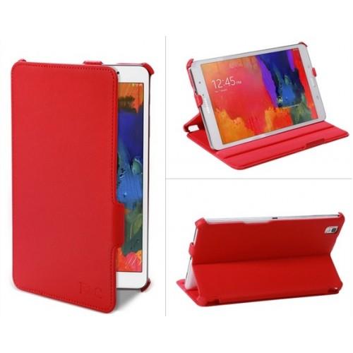 Кожаный текстурный чехол подставка для Samsung Galaxy Tab Pro 8.4 Красный