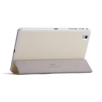 Чехол смарт флип подставка сегментарный серия Glossy Shield для Samsung Galaxy Tab Pro 8.4 Белый