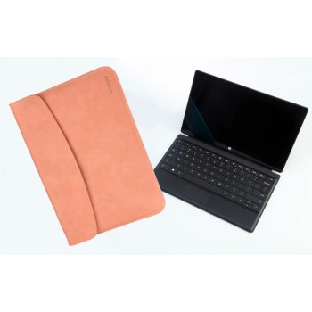 Кожаный чехол папка (нат. вощеная кожа) для Microsoft Surface Pro 2 Бежевый