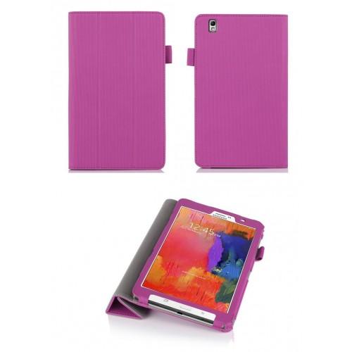Чехол подставка сегментарный серия Full Cover текстурный для Samsung Galaxy Tab Pro 8.4 Розовый