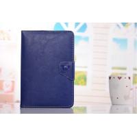 Универсальный чехол портмоне подставка серия Corner Care на угловых зажимах для Huawei MediaPad X1 Синий