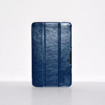 Чехол флип подставка сегментарный серия Leather Up для Lenovo ThinkPad 8 Синий