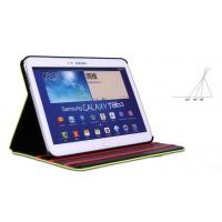 Кожаный чехол подставка с застежкой для Samsung Galaxy Tab 4 10.1