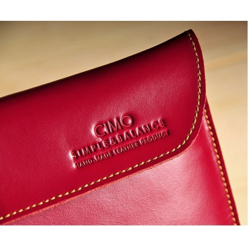 Эксклюзивный кожаный чехол папка (нат. вощеная кожа) для Sony Vaio Tap 11 Красный
