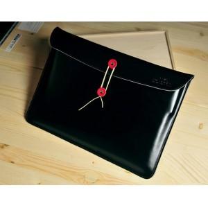 Эксклюзивный кожаный чехол папка (нат. вощеная кожа) для Sony Vaio Tap 11