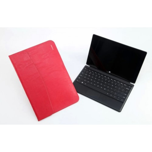 Кожаный чехол папка (нат. вощеная кожа) для Microsoft Surface Pro 2