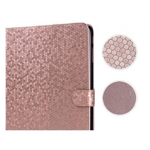 Чехол портмоне подставка текстурный серия Honeycomb для Samsung Galaxy Tab 4 10.1 Зеленый