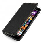 Кожаный чехол книжка горизонтальная (нат. кожа) для Nokia Lumia 1320