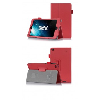 Чехол подставка с внутренними отсеками серия Full Cover для Lenovo ThinkPad 8 Красный