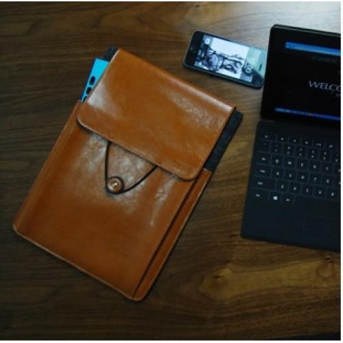 Эксклюзивный многофункциональный дизайнерский чехол мешок войлок/нат. кожа для Microsoft Surface Pro 2