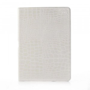 Чехол подставка серия Croco Pattern для Samsung Galaxy Note 10.1 2014 Edition Белый