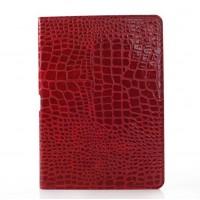 Чехол подставка серия Croco Pattern для Samsung Galaxy Note 10.1 2014 Edition Красный