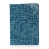 Чехол подставка серия Croco Pattern для Samsung Galaxy Note 10.1 2014 Edition Голубой