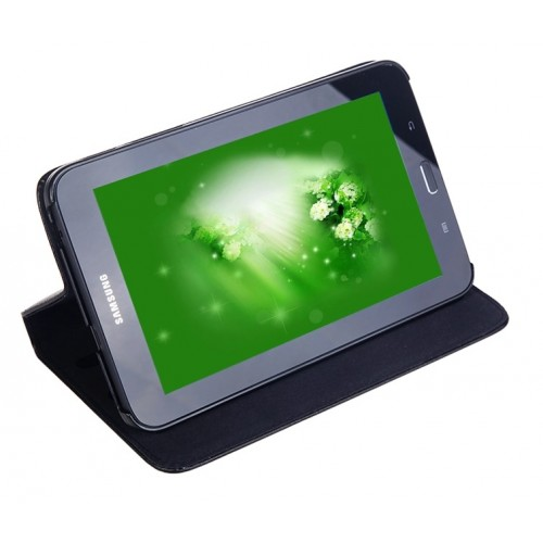 Кожаный чехол подставка серия Full Wallet для Samsung Galaxy Tab 3 Lite 7.0 Красный