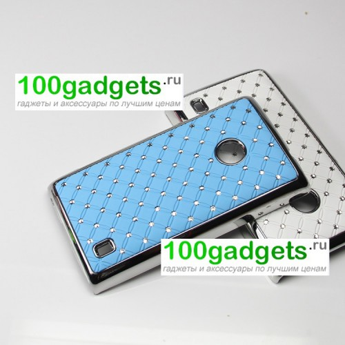 Чехол пластик/металл со стразами для Nokia Lumia 520/525