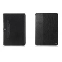 Кожаный чехол смарт флип подставка (нат. кожа) серия First Wish для Samsung Galaxy Note Pro 12.2 Черный