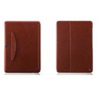 Кожаный чехол смарт флип подставка (нат. кожа) серия First Wish для Samsung Galaxy Note Pro 12.2 Коричневый