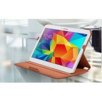Чехол подставка текстурный для Samsung Galaxy Tab 4 10.1 Коричневый