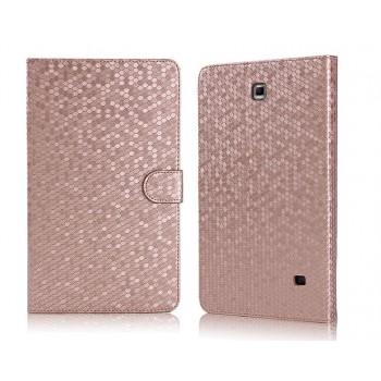 Чехол портмоне подставка текстурный серия Honeycomb для Samsung Galaxy Tab 4 8.0
